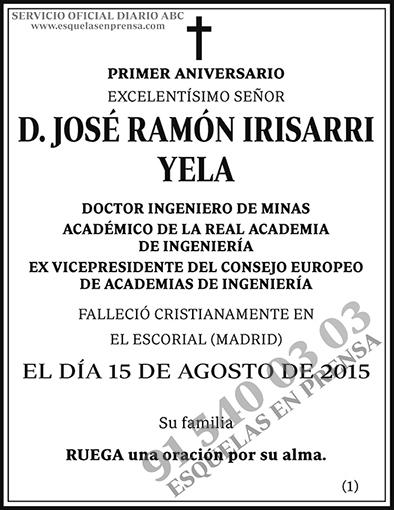 José Ramón Irisarri Yela